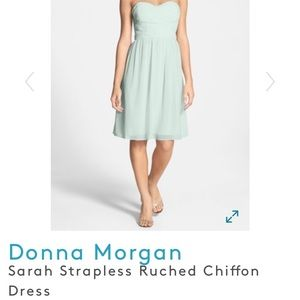 Donna Morgan- Strapless Chiffon Dress